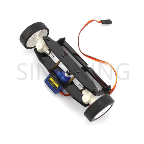 the front axle steering gear car model system diy kit