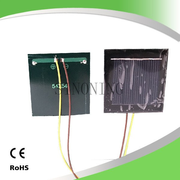 solar cell panel board 54*54 2v 130mA with 15cm wire