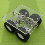 transparency Acrylic N20 4WD Two layer Smart car chassis robot DIY kit SN130