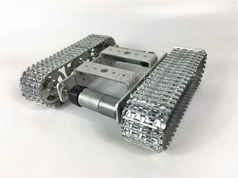 all Metal aluminium Robot Tank Platform metal Track Chassis DIY kit strong