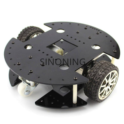 2WD Black Acrylic Robot Car Chassis 2 layer rugged 37B280 gear motor SN180