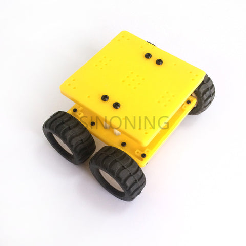 MINI 4WD Color Smart Robot Car Chassis kit Platform by N20 metal gear motor for Arduino