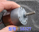 DC geared motor Taiwan HSIANG NENG Metal Gear Box 1632T 12v 116RPM 56:1