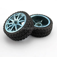 65mm hexagonal hole toy wheel tire for robot car chassis rubber wheel SN38