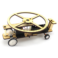 Wooden helicopter DIY taxiing airplane model boy maker technology small production