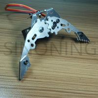 Mechanical claw DIY robot arm metal gripper band MG996R servo