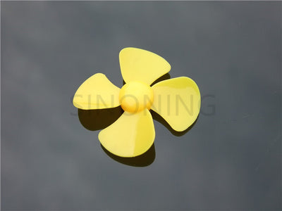 60mm diameter four-leaf propeller model paddle DIY fit 2MM shaft Yellow