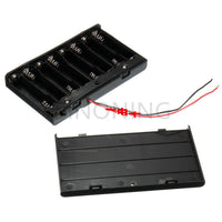 12V 8 on ONE AA battery box holder with Switch FOR diy
