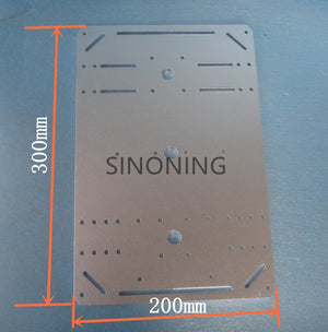 supper big aluminum plate for robot 300mm * 200mm*3mm