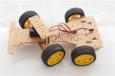Steering engine 4 wheel 2 Motor Smart Robot Car Chassis kits DIY For Arduino with FUTABA MG995