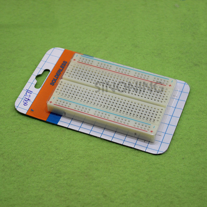 Mini Universal Solderless Breadboard 400 Contacts Tie-points Available