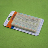 Mini Universal Solderless Breadboard 400 Contacts Tie-points Available Test DIY