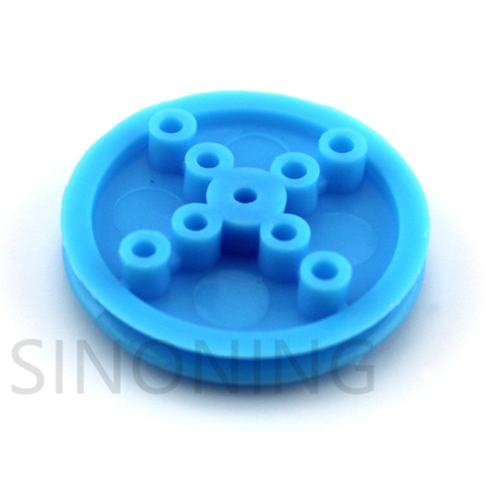 10 PCS 2*30mm blue pulley small pulley diy motor wheel can be set silicone wheel leather plastic model wheel drive wheel