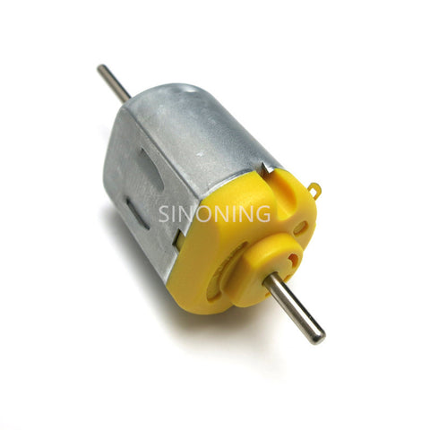 130 carbon brush motor long axis double shaft DC 3V 6V 9V  high torque high speed