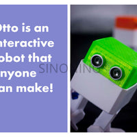 Otto DIY builder Kit arduino Nano ROBOT open source Maker obstacle avoidance DIY humanity playmate 3D