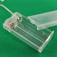 transparent battery for 2 AA batteries box with wire and switch and cap