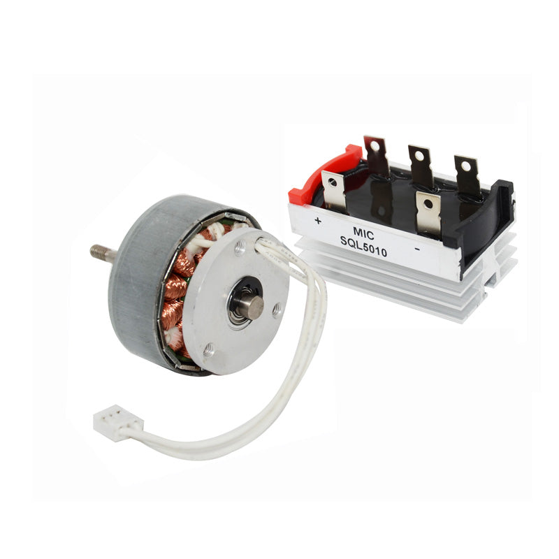 5W efficient wind turbine permanent magnet three-phase generator With rectifier bridge 12v DIY