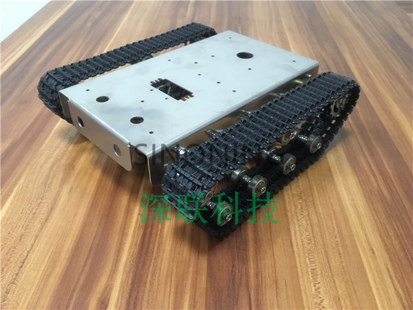 Stainless steel Robot Tank Chassis Platform shock absorber crawler suspension intelligent trolley