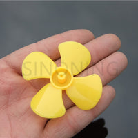 500pcs 60mm diameter four-leaf propeller model paddle DIY fit 2MM shaft Yellow
