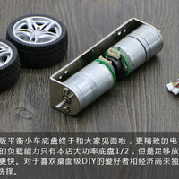 Mini 2WD self-balance robot car chassis rubber wheel car frame 25 encoder