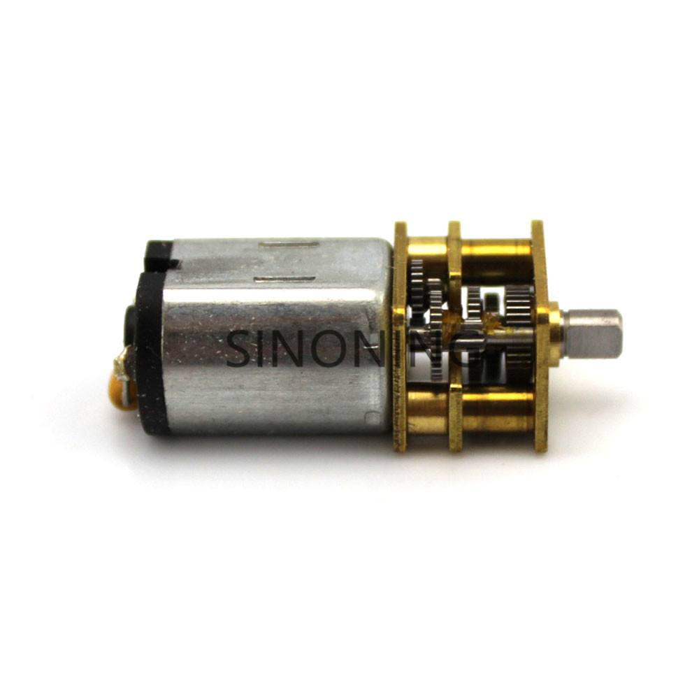 N20 micro reducer motor 6V  DC short shaft reducer motor metal gear