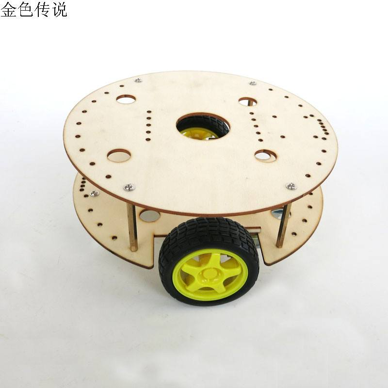 Woodiness Big! 2WD 2 universal wheel 2Motor wood Smart Robot Car Chassis cool For SCM Arduino