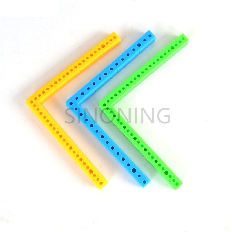 10pcs L - shaped rectangular plastic bar frame car chassis accessory DIY materials building block