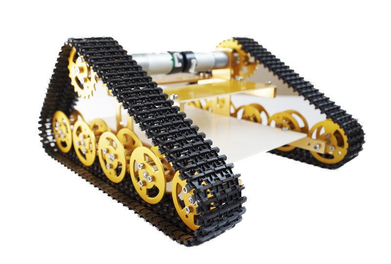 Aluminum Alloy Metal Wall-E Tank Chassis Robot Crawler Creeper Caterpillar for Arduino T400