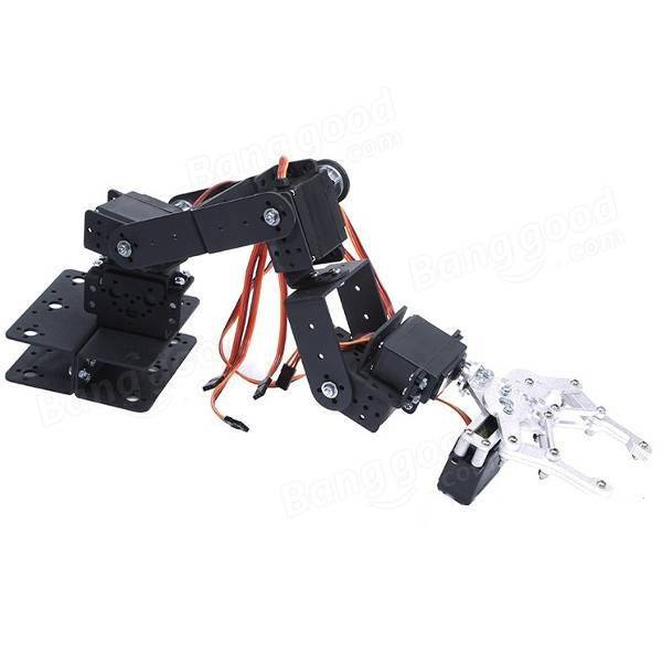 DIY 6 DOF 3D Rotating Mechanical Robot Arm Kit For Smart Car