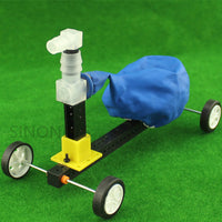 Balloon Power Cars Recoil Car Model Puzzle Toys Homework Science Experiment Equipment DIY