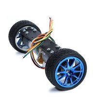 Self-balancing two-wheeled motor car 2WD metal car smart car chassis balance