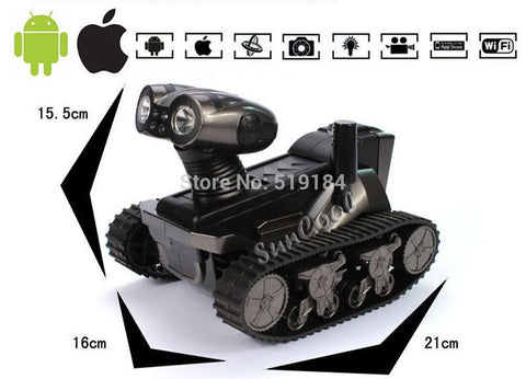 Robot WALL.E rc tank WIFI HD video Camera wifi Spy Tank for iOS,Android,iphone,Photo,Monitor Eavesdrop,remote control tank