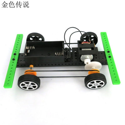 DIY Small Production technology Model Science Assembling Toys Model 15*10*4cm 4WD