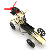 DIY Assembled Wooden Wind Car Science Model Toys For Kid Learning