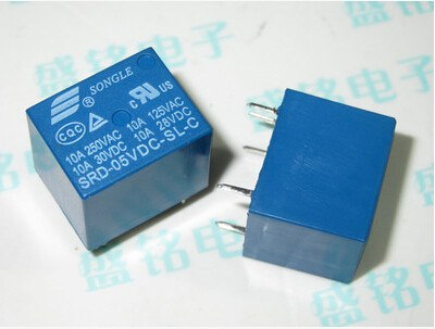 1pcs 5V DC SONGLE Power Relay SRD-05VDC-SL-C PCB Type