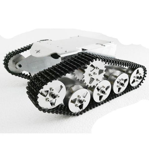 Aluminum Alloy Tracked Vehicle Off-road Vehicle Robot Tank Chassis for DIY