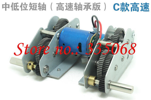 HENG LONG 3819/3819-1 RC tank German panther 1/16 spare part No.Driving gearbox with high speed motors-bearing version C