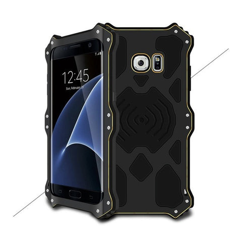 For Galaxy S7 edge Hybrid Cases LOVE MEI MK2 for Samsung Galaxy S7 Edge G935 Aluminum + Silicone Hybrid Case - 5.5 inch