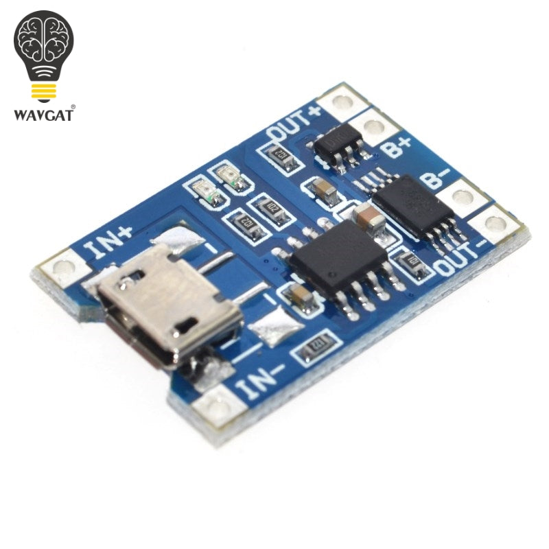 Smart Electronics 5V Micro USB 1A 18650 Lithium Battery Charging Board With Protection Charger Module for Arduino Diy Kit