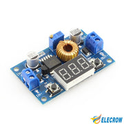 Elecrow 5A 75W DC-DC Module Adjustable Step-down Buck Voltage Converter Power Supply Module LED Driver with Voltmeter DIY Kit