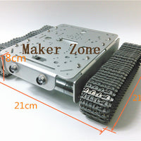 T200 -MT Sivler All metal Tank,Aluminum tank chassis with robotic arm interface with speed detectionencoder