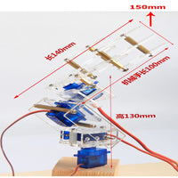 High Quality 4 DOF Robot Arm 3D Rotating Machine DIY Car Arm P0090 Servo Kit DiY Robot Smart Robot For RC Model
