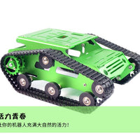 Original Xiao R DIY Self-assembled Aluminium Alloy RC Wifi Robot Car Tank Chassis Kit Set Gold Blue For Kids Adult DIY Toy Gifts