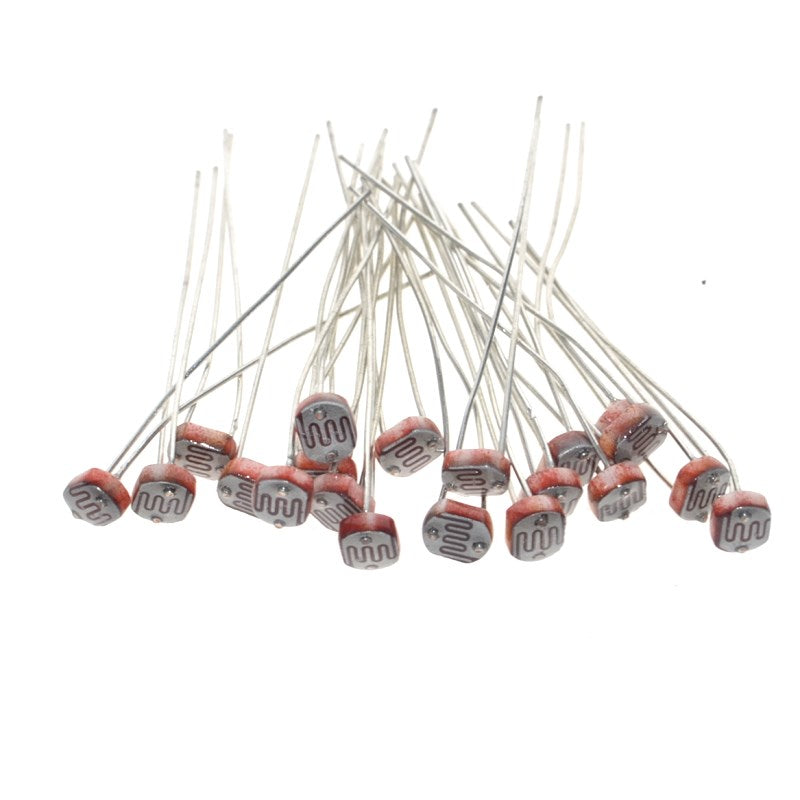 20PCS x 5528 Light Dependent Resistor LDR 5MM Photoresistor wholesale and retail Photoconductive resistance for arduino