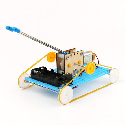 DIY Educational Electric Robot Tank Scientific Invention Toys Good Gifts for Kids