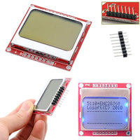 Smart Electronics LCD Module Display Monitor White backlight adapter PCB 84*48 84x84 Nokia 5110 Screen for Arduino