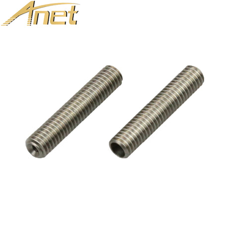 5PCs Anet A6 A3 3D Printer Extruder Parts PTFE tube inside M6*40mm Nozzle teflon Throat Tube for 1.75mm filament Makerbot MK8