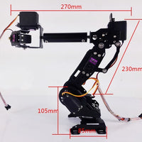 2018 DIY Education Robot Competition 7 Axis Robot Arm 7DOF DS3218 Servo Mechanical Robot Arm