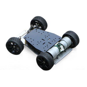 Elecrow DIY Smart Car For Arduino Robot Education Smart Car Encoder Chassis Front wheel- Steering Gear Steering Dual Motor Drive