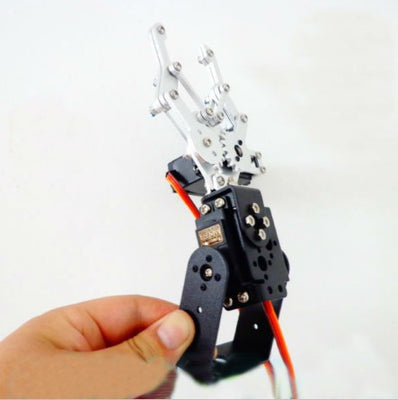 2 DOF Metal Robot Arm Clamp Claw Mount Frame kit Set Aluminium Alloy Robotic Manipulator Paw Multifunctional Bracket Servo Toy